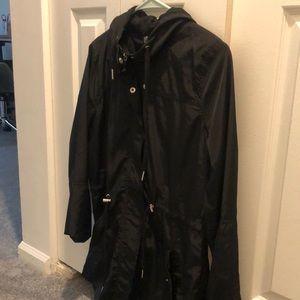 Athletic Women's Black rain coat (small)